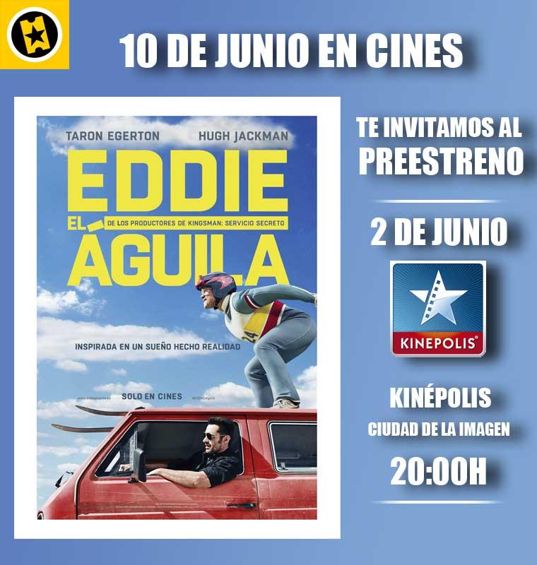 Vente al preestreno de Eddie el aguila en Madrid