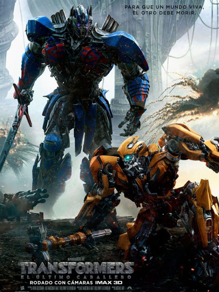 Transformers ultimo caballero CARTEL